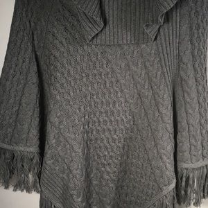 Jaclyn Smith Sweaters - Jaclyn Smith - Cowl Neck Cotton Pullover / Shawl